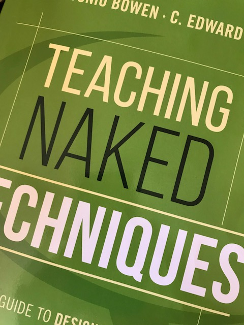 A portion of the cover of Teaching Naked Techniques