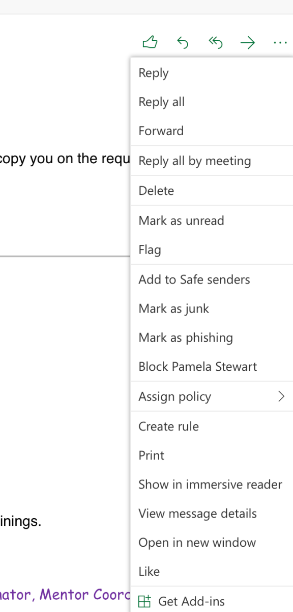 Blocking Users on Outlook – CTEI Happenings