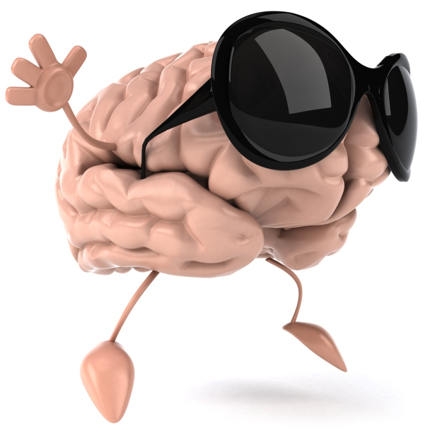 The CTEI brain, wearing sunglasses, is ready for spring break.