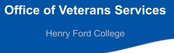 A portion of the first slide of the Powerpoint from the March 28 presentation. It says Office of Veteran Services