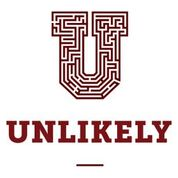A U stylized as a maze to represent the film Unlikely