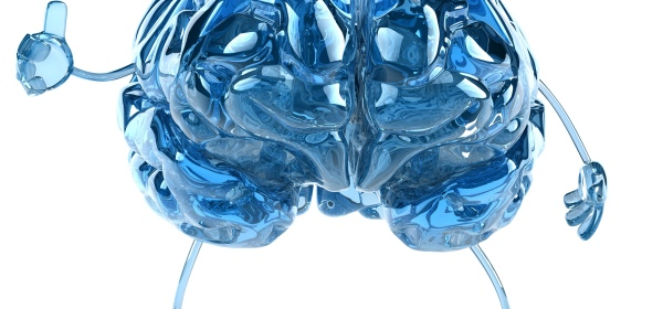 Blue Crystal Brain Evoking a Sense of Technology