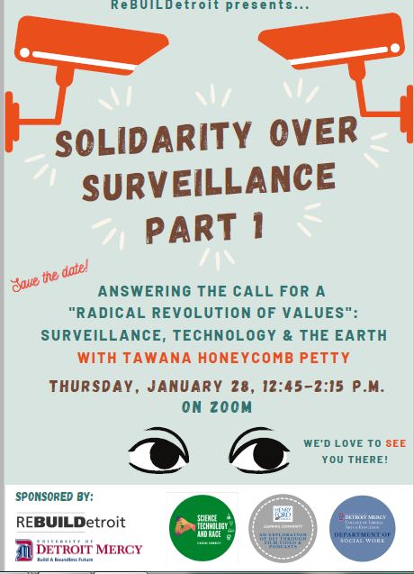 Save the date for Solidarity Over Surveillance Part 1